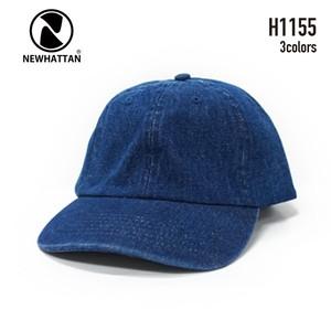 【NEWHATTAN】H1155  デニムキャップ(6Panel CAP)