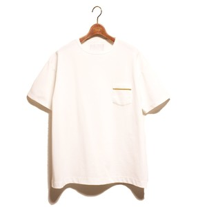 1 Pocket SS Loose Tee -white <LSD-AI1T6>
