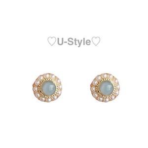 ♡stone earring/pierce♡