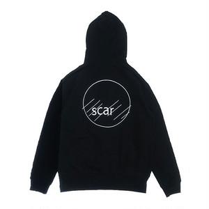scar /////// CIRCLE ZIP HOODIE (Black)