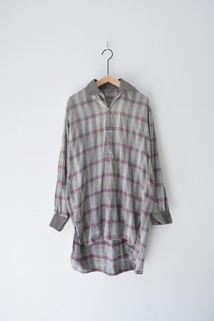 【USED】CHECK P/O SHIRTS