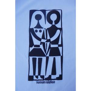 """human relation"" long sleeve tee / white"