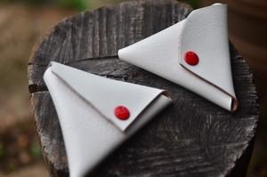 三角コインケース*ホワイト