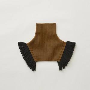 eLfinFolk  Rib knit cape (camel) S/M elf-212K10 メール便可