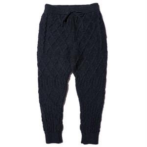 """JELADO """"BASIC COLLECTION"""" Cable Knit Pants ジェラード ケーブル ニット パンツ (フェイドネイビー) [JP53322]"""