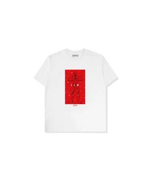 "XENO x BAKI Collaboration T-shirt ""JIN"" WhiteRed"