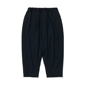 STRETCHED TWILLED SAROUEL PANTS - BLACK