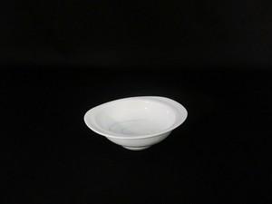 【井上康徳作】白磁彩釉楕円 皿(小)
