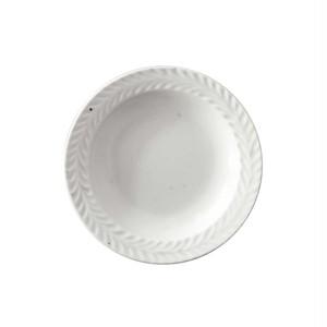 波佐見焼 翔芳窯 ローズマリー リムプレート 皿 9.5cm マットホワイト