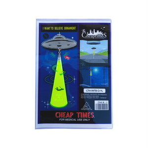 """CHEAP TIME$ """"I WANT TO BELIVE"""" ORNAMENT"""