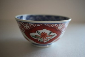萠窯|飯碗(赤絵)