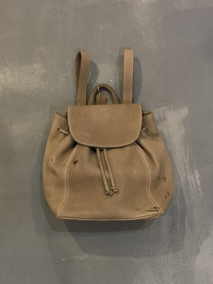 Old COACH Nubuck Leather Backpack / Made in Italy [B-315]