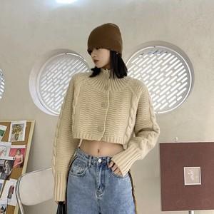high neck short knit