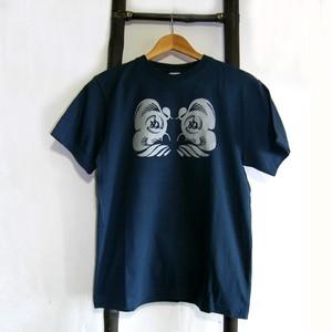 SALE【かまわぬ達磨 / ダルマ武藏限定Tシャツ】【メンズSサイズ  / Slate Blue】