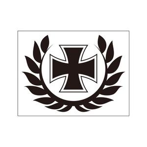 ステッカー 鉄十字と月桂冠