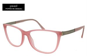 ポルシェデザイン 眼鏡 PORSCHE DESIGN メガネ p8266 d 日本製 ポルシェ デザイン レディース 女性用 ウェリントン ピンク