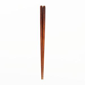 拭き漆箸-渦巻き k0396