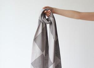 % PERCENT スカーフ春夏(ライトグレー&グレー)抗菌・防臭・吸水・通気性・日焼け予防