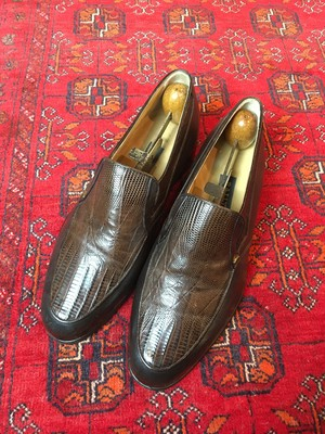.BALLY LIZARD LEATHER LOAFER/バリーリザードレザーローファー 2000000046310
