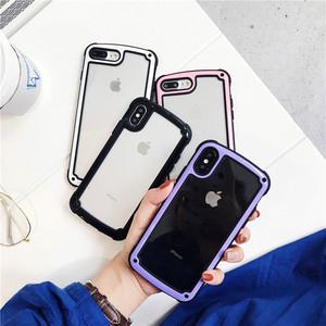 【小物】シンプルシースルーiphone7/8plusファッションiphone6/6S/XsMax/XRスマホケース