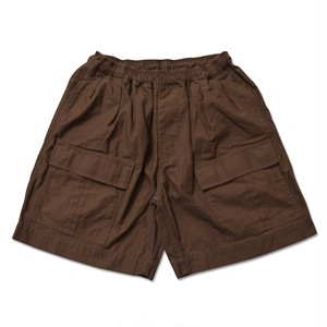 COMFORTABLE REASON / SAFARI SHORTS -BROWN-