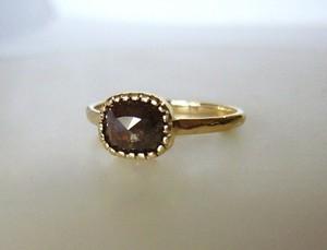 ナチュラルダイヤモンドの指輪(カカオブラウン)