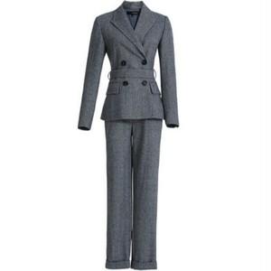 送料無料セットアップ/スーツ/グレー/ジャケット+パンツ