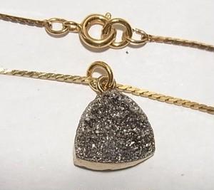 天然石ペンダントネックレス チタニウムクォーツペンダント 3904P