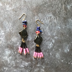 pierce or earring / MIX-black