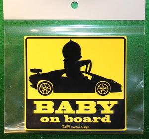 BABY ON  BOARD ステッカー スポーツかー 送料無料