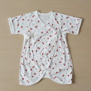 【女の子用】日本製 低出生体重児向ベビーコンビ肌着(イチゴ柄)