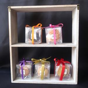 女神の低糖質クッキー*キューブボックス入りプチギフト5種類・引き菓子にも!糖質制限 グルテンフリー