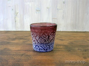 自然の魅力と神秘が詰まった琉球ガラスアイスカットロックグラス 紫/青―1 910232 |琉球ガラス みんるー商店