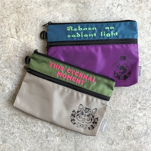 BOYS STITCHES CLUB ZIP POUCH_purple (ゾウ)