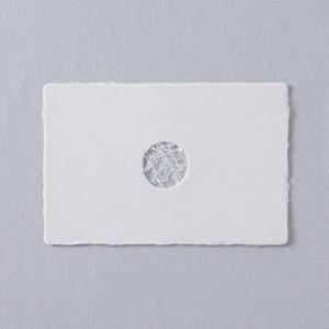 PON03 西島和紙工房 楮 透かしポストカード en 1枚入