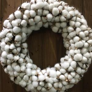 コットンリース cotton wreathe