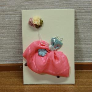 母の日花束付きギフト メッセージカード(はな風船E)と里璃