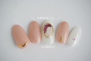 【送料無料】天然石ヌーディネイルチップ