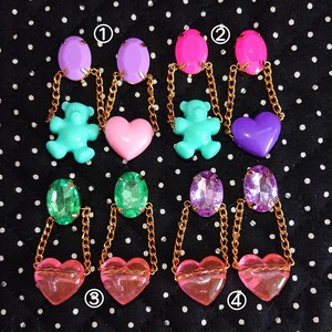 JEWELRY with heart 耳飾り