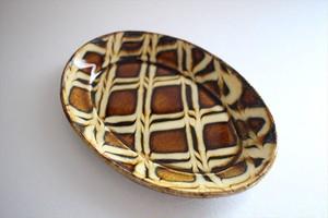 中川紀夫(紀窯)|楕円皿小 格子