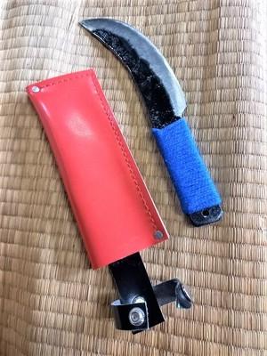 皮ハギナイフ(小)カラー紐巻済