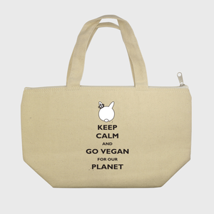 Go Vegan for our Planet - Black - Lunch Tote
