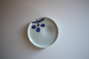 皓洋窯|豆皿 木の葉 青