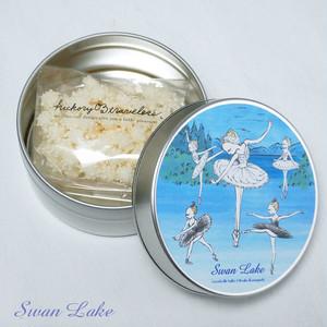 浮き星(缶入りお菓子):白鳥の湖(ミルク味)<入荷待ち>