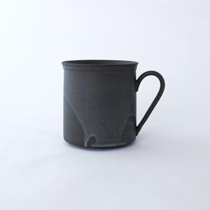 3RD CERAMICS(サードセラミックス) 黒泥カップ φ8.5 × H7.7cm 180ml 岐阜 多治見市 陶器 スタイリッシュ ブラック