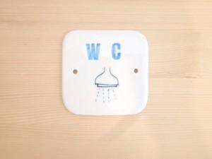 ドアサインプレート WC