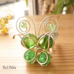 蝶のカード立て(緑~青)