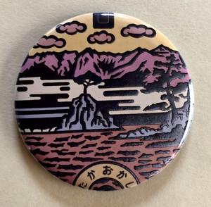 マンホール 【バッチ】 富山県 高岡市 夕焼けバージョン