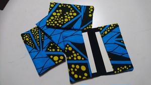 African batik card case