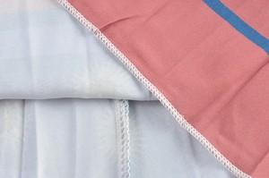ピンクデザインミディ丈プリーツスカート